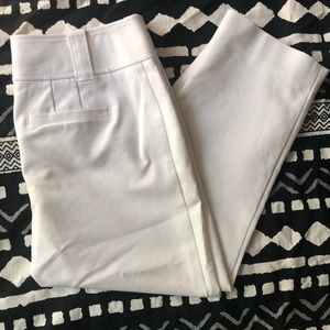 "Ann Taylor Stretch 'Lindsay"" Capri in White size 4"